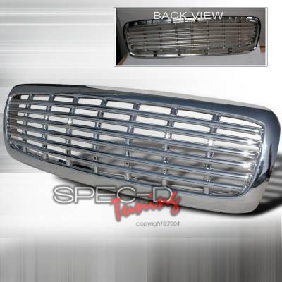 Spec-D - Dodge Dakota Spec-D Front Grille - Chrome - HG-DAK97C-JY