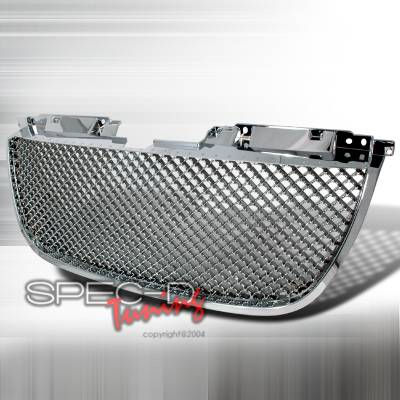 Spec-D - GMC Denali Spec-D Mesh Grille - Chrome - HG-DEN07C
