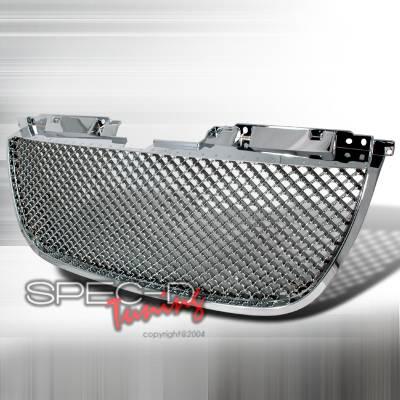 Spec-D - GMC Yukon Spec-D Mesh Grille - Chrome - HG-DEN07C