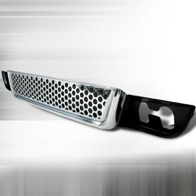 Spec-D - GMC Yukon Spec-D Punch Hole Style Lower Grille - Chrome - HG-DEN07LWCO