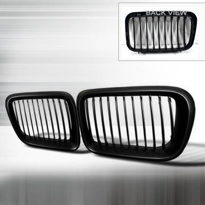 Spec-D - BMW 3 Series Spec-D Front Hood Grille - Black - HG-E3692BB