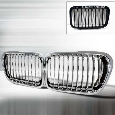 Spec-D - BMW 3 Series Spec-D Front Hood Grille - Chrome - HG-E3697CC