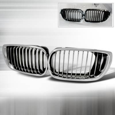 Spec-D - BMW 3 Series 4DR Spec-D Front Hood Grille - Chrome - HG-E4602CC