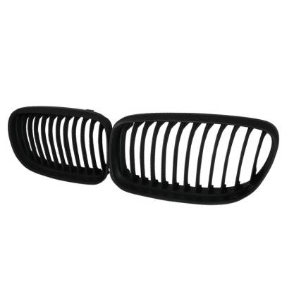 Spec-D - BMW 3 Series Spec-D Front Hood Grille - Black - HG-E9009BB