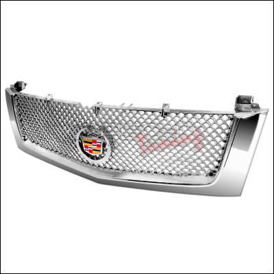 Spec-D - Cadillac Escalade Spec-D Mesh Grille - Chrome - HG-ECLD02C-RS