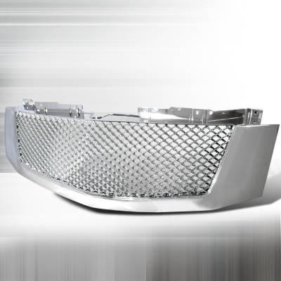 Spec-D - Cadillac Escalade Spec-D Mesh Grille - Chrome - HG-ECLD07C