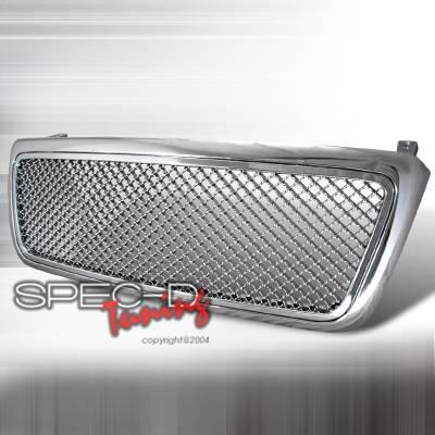 Spec-D - Ford F150 Spec-D Chrome Grille Mesh - HG-F15004C