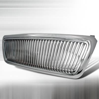 Spec-D - Ford F150 Spec-D Vertical Grille - Chrome - HG-F15004CVT