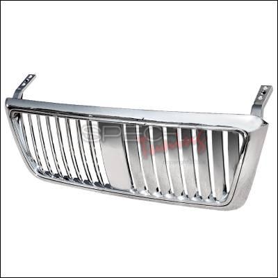 Spec-D - Ford F150 Spec-D Vertical Grille - Chrome - HG-F15004CVT-TY