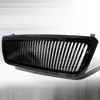 Spec-D - Ford F150 Spec-D Vertical Grille - Black - HG-F15004JMVT