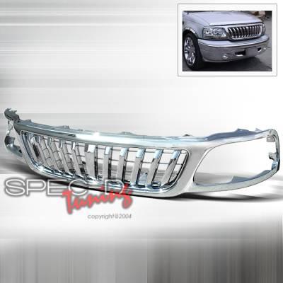 Spec-D - Ford F150 Spec-D Vertical Grille - Chrome - HG-F15099CVT-TY