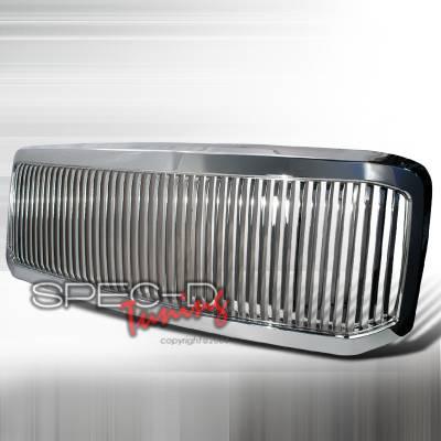 Spec-D - Ford F250 Spec-D Vertical Grille - Chrome - HG-F25005CVT