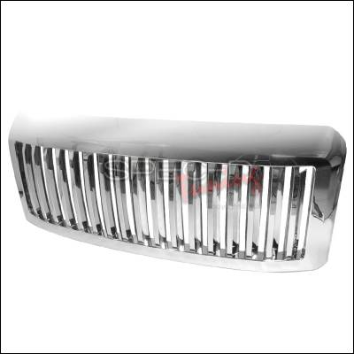 Spec-D - Ford F250 Spec-D Vertical Grille - Chrome - HG-F25008CVT
