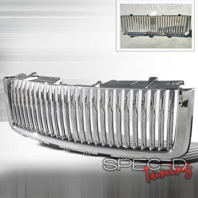 Spec-D - GMC Sierra Spec-D Mesh - Chrome Grille - HG-GMC07CO