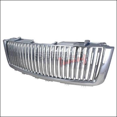 Spec-D - GMC Sierra Spec-D Vertical Grille - Chrome - HG-GMC07CVT