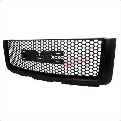 Spec-D - GMC Sierra Spec-D Front Upper Grille Mesh - Black - HG-GMC07JM