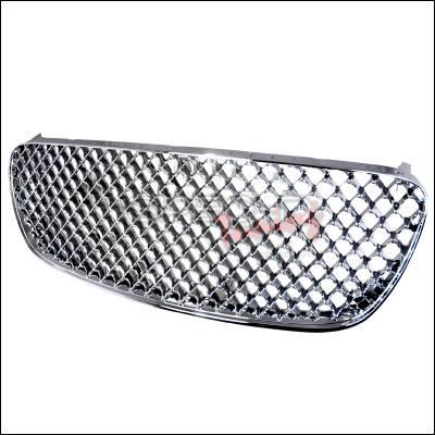 Spec-D - Nissan Maxima Spec-D Mesh Grille - Chrome - HG-MAX00-RS