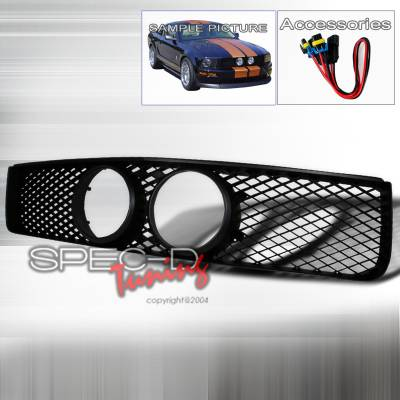 Spec-D - Ford Mustang Spec-D Shelby GT Style Grille - Black - HG-MST05GTBK