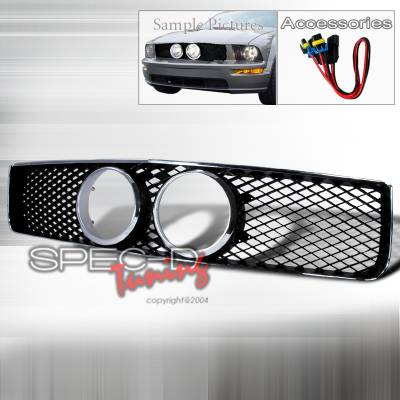Spec-D - Ford Mustang Spec-D Shelby GT Style Grille with Chrome Frame - HG-MST05GTCB