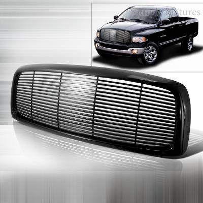 Spec-D - Dodge Ram Spec-D Black Grille - HG-RAM02JM