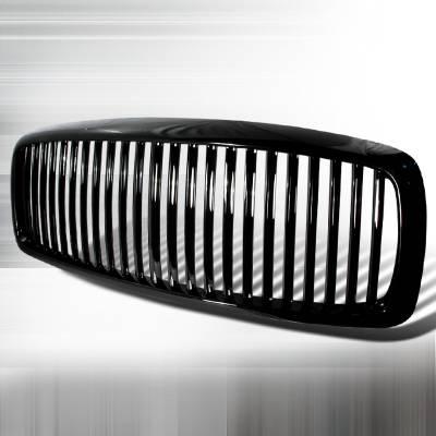 Spec-D - Dodge Ram Spec-D Vertical Grille - Black - HG-RAM02JMVT