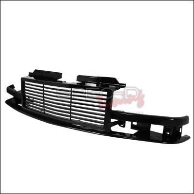 Spec-D - Chevrolet S10 Spec-D Front Grille - Black - HG-S1098JM