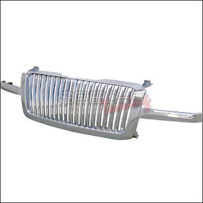 Spec-D - Chevrolet Silverado Spec-D Vertical Grille - Chrome - HG-SIV03CVT
