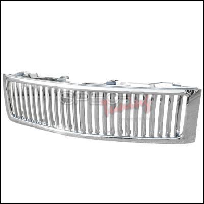 Spec-D - Chevrolet Silverado Spec-D Vertical Grille - Chrome - HG-SIV07CVT