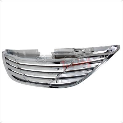 Spec-D - Hyundai Sonata Spec-D Front Grille - Chrome - HG-SON10C-GL