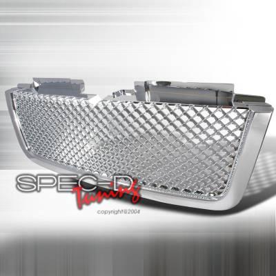 Spec-D - Chevrolet Trail Blazer Spec-D Mesh Grille - Chrome - HG-TBLZ06LTC