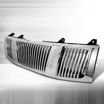 Spec-D - Nissan Titan Spec-D Vertical Grille - Chrome - HG-TIT04CVT