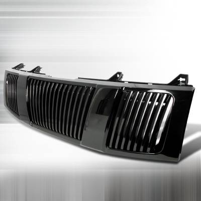 Spec-D - Nissan Titan Spec-D Vertical Grille - Black - HG-TIT04JMVT