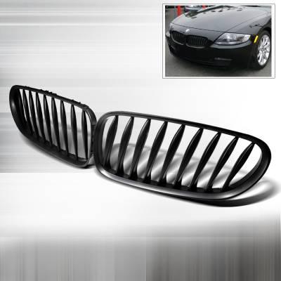Spec-D - BMW Z4 Spec-D Front Hood Grille - Black - HG-Z401BB