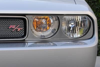 T-Rex - Dodge Challenger T-Rex T1 Series Headlamp Bezels - 2PC - 11415