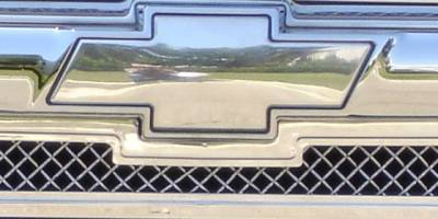 T-Rex - Chevrolet Silverado T-Rex Billet Bowtie - Plain - Polished - 19075