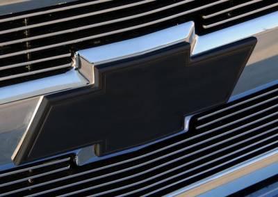 T-Rex - Chevrolet Silverado T-Rex Billet Bowtie with Border - Polished - 19110