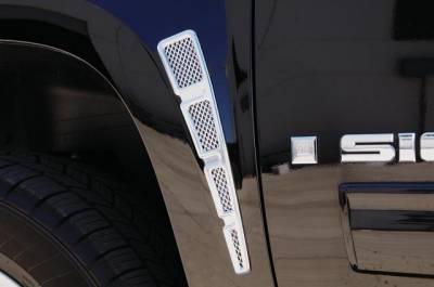 T-Rex - Chevrolet Silverado T-Rex Fender Vent - Vertical Style - Billet Chrome Plated - 54006