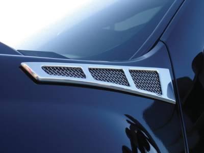 T-Rex - Chevrolet Silverado T-Rex Side Vent - Billet Chrome Plated - 54007