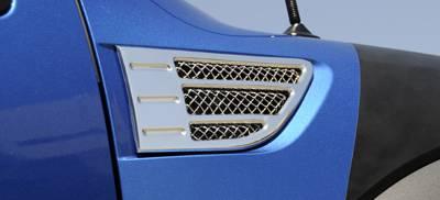 T-Rex - Ford F150 T-Rex X-Metal Side Vents - Polished - Pair - 54567