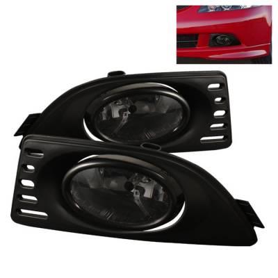 Spyder - Acura RSX Spyder OEM Fog Lights - Smoke - FL-AR06-SM