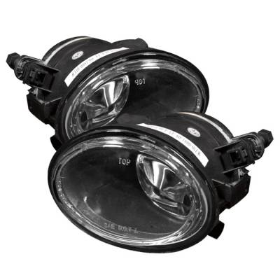 Spyder - BMW 5 Series Spyder OEM Fog Lights - No Switch - Clear - FL-BE4601-C