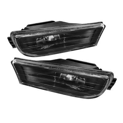 Spyder - BMW 7 Series Spyder Crystal Fog Lights - No Switch - Black - FL-CH-BE3895-BK