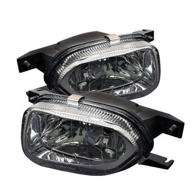 Spyder - Mercedes-Benz C Class Spyder Fog Lights - No Switch - Euro - FL-CH-MBW21103-E