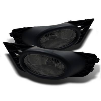 Spyder - Honda Civic 4DR Spyder OEM Fog Lights - Smoke - FL-CL-HC09-4D-SM
