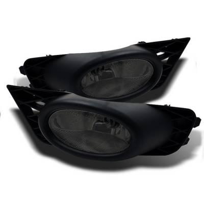 Spyder - Honda Civic 4DR Spyder OEM Fog Lights - Smoke - FL-CL-HC09-4D-SM