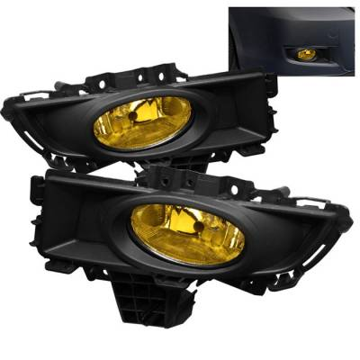 Spyder - Mazda 3 4DR Spyder OEM Fog Lights - Yellow - FL-CL-MAZ307-Y