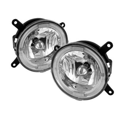 Spyder - Ford Mustang Spyder Halo Fog Light - Clear - FL-FM05-C