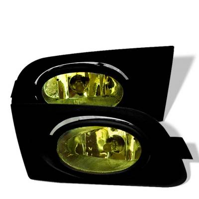 Spyder - Honda Civic 2DR & 4DR Spyder OEM Fog Lights - Yellow - FL-HC01-Y