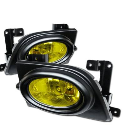 Spyder - Honda Civic 4DR Spyder OEM Fog Lights - Yellow - FL-HC06-4D-Y