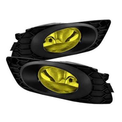 Spyder - Honda Civic 4DR Spyder OEM Fog Lights - Yellow - FL-HC2012-4D-Y